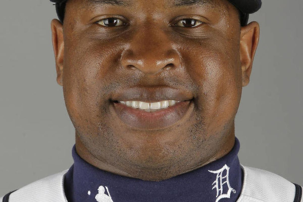FILE - This is a 2012 photo of Delmon Young of the Detroit Tigers baseball team during spring training in Lakeland, Fla. Young was arrested Friday, April 27, 2012 in New York, on a hate crime harassment charge after police said he got into a fight with a