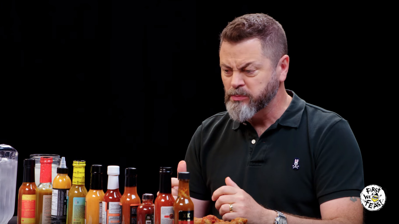 Nick Offerman Reacts To Hot Sauce Exactly How You'd Expect: He Doesn't