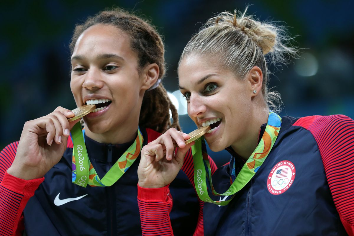 Britney Griner and Elena Della Donne won gold for Team USA women's basketball.