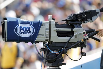 A Fox Sports camera at an NFL game