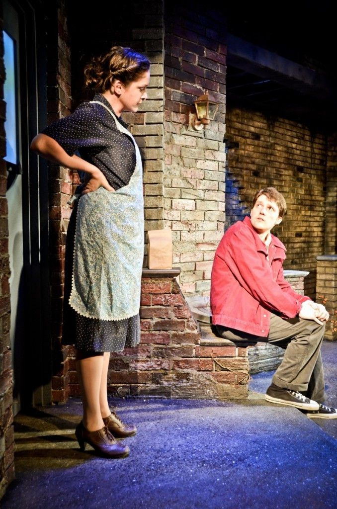 """Kyrie Anderson is Mrs. Johnstone and Charlie Mann is Mickey in the Theo Ubique Cabaret Theatre production of """"Blood Brothers."""" (Photo: Adam Vaness)"""