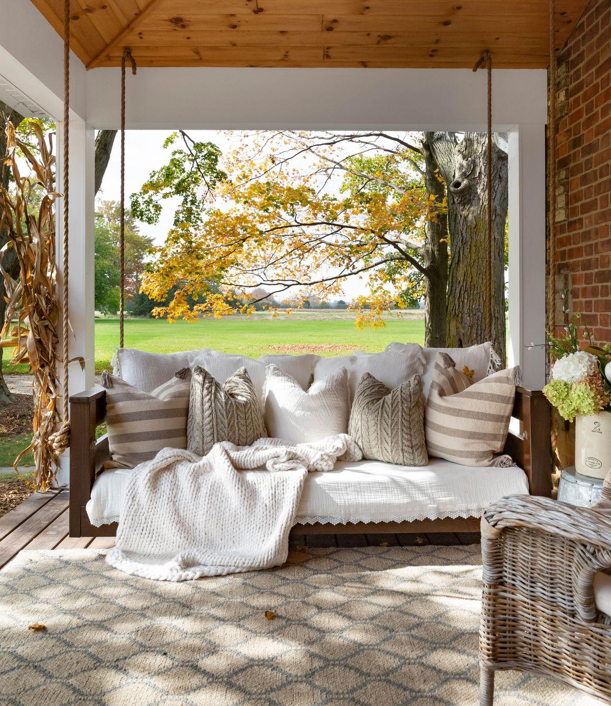 Deck pequeno, tapete ao ar livre