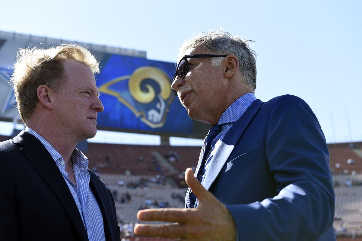 NFL Commissioner Roger Goodelland Los Angeles Rams Owner Stan Kroenke