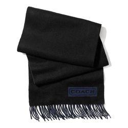 """<a href=""""http://f.curbed.cc/f/Coach_SP_121113_scarf"""">Cashmere Coach lozenge scarf in black</a>, $198"""