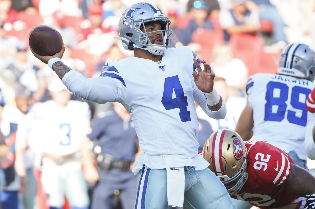 NFL: Preseason-Dallas Cowboys at San Francisco 49ers