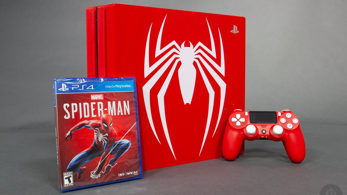 spider-man limited edition ps4 pro bundle detailed in unboxing