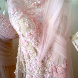 A month of hand-beading went into this Abed Mahfouz dress