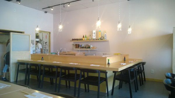 The sushi bar insided Kokoro.
