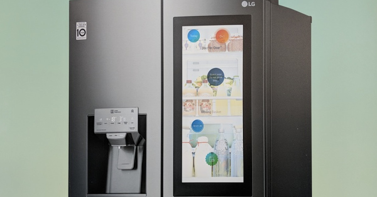 Lg S New Thinq Smart Fridge Has A Transparent 29 Inch