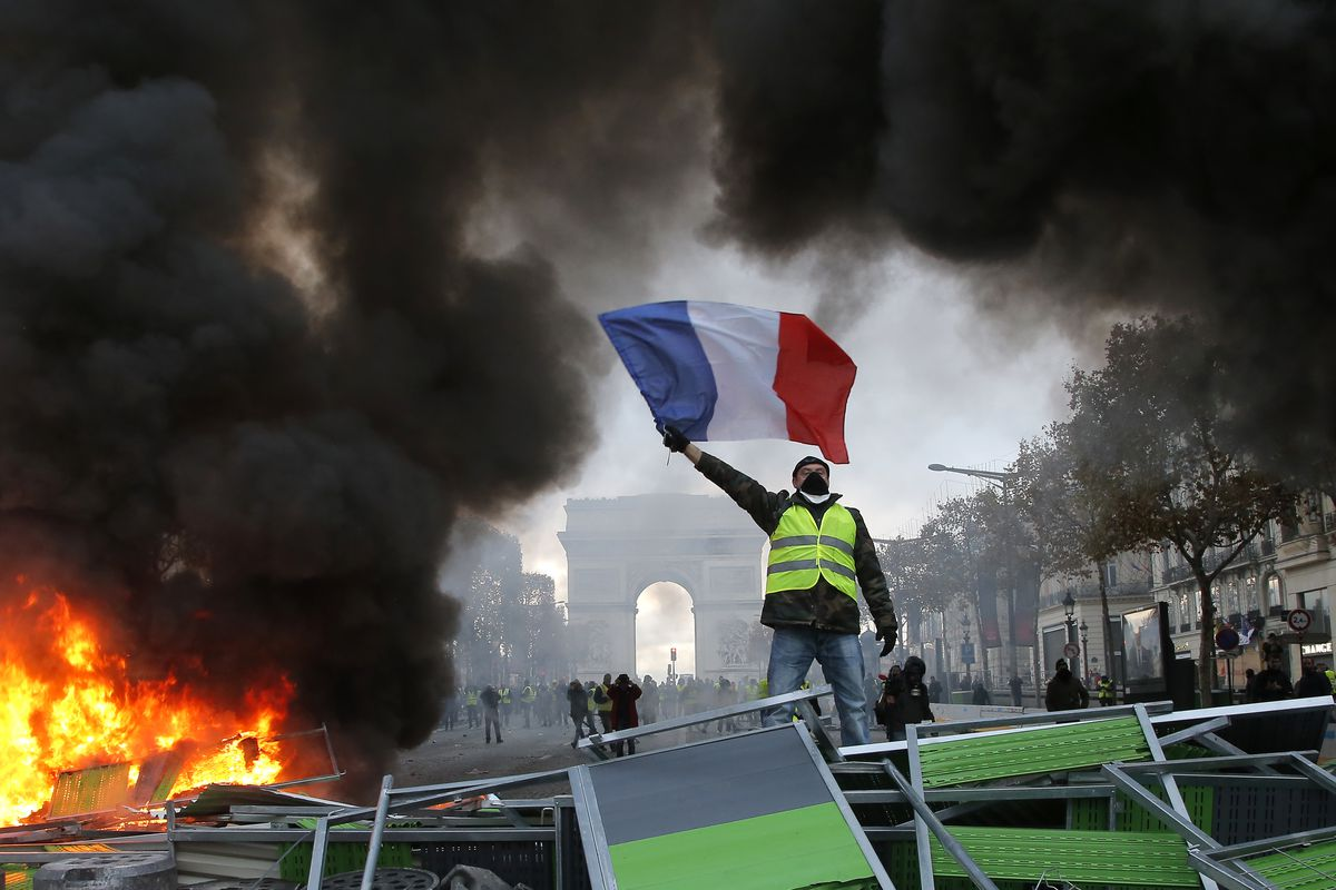 Image result for france protests 2018