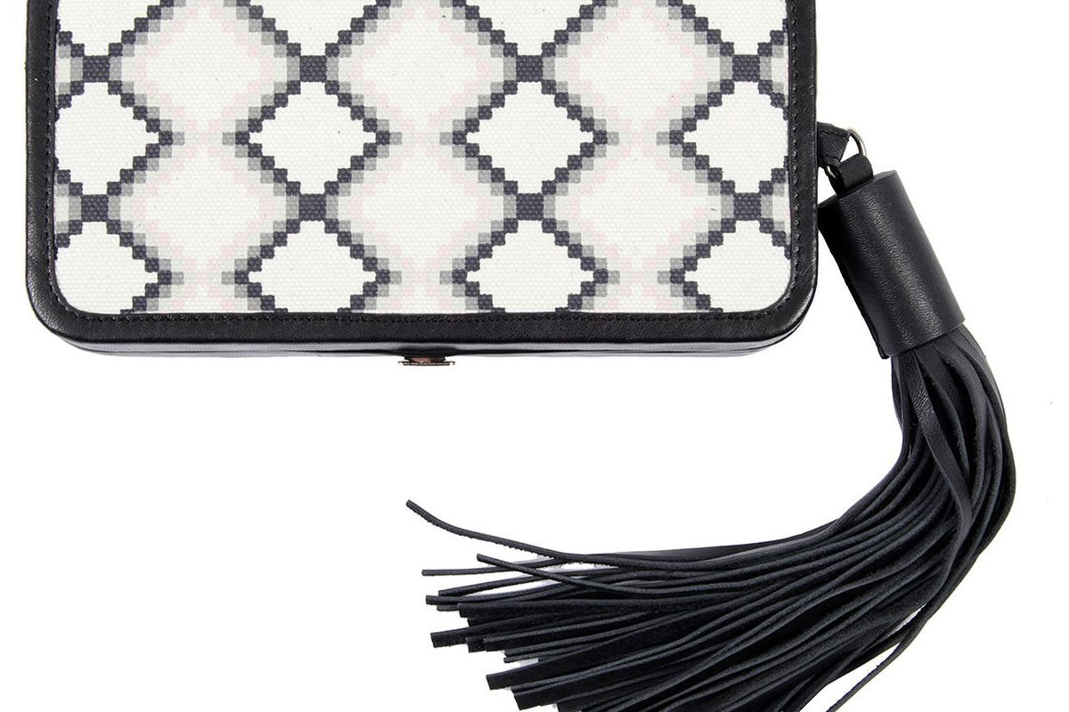 """Image via <a href=""""http://www.refinery29.com/shops/boutiques-430/dkny-boutique/r29-for-dkny-l-a-box-clutch.html"""">Refinery29</a>"""