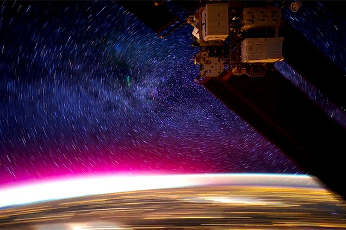 ISS at night
