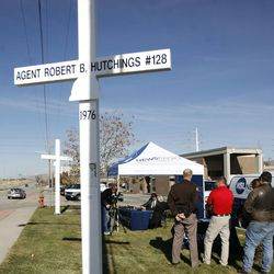 KSL's Doug Wright holds a town hall meeting about the controversy surrounding the UHP memorial crosses at the Utah Highway Patrol building in Murray on Wednesday, Nov. 16, 2011.
