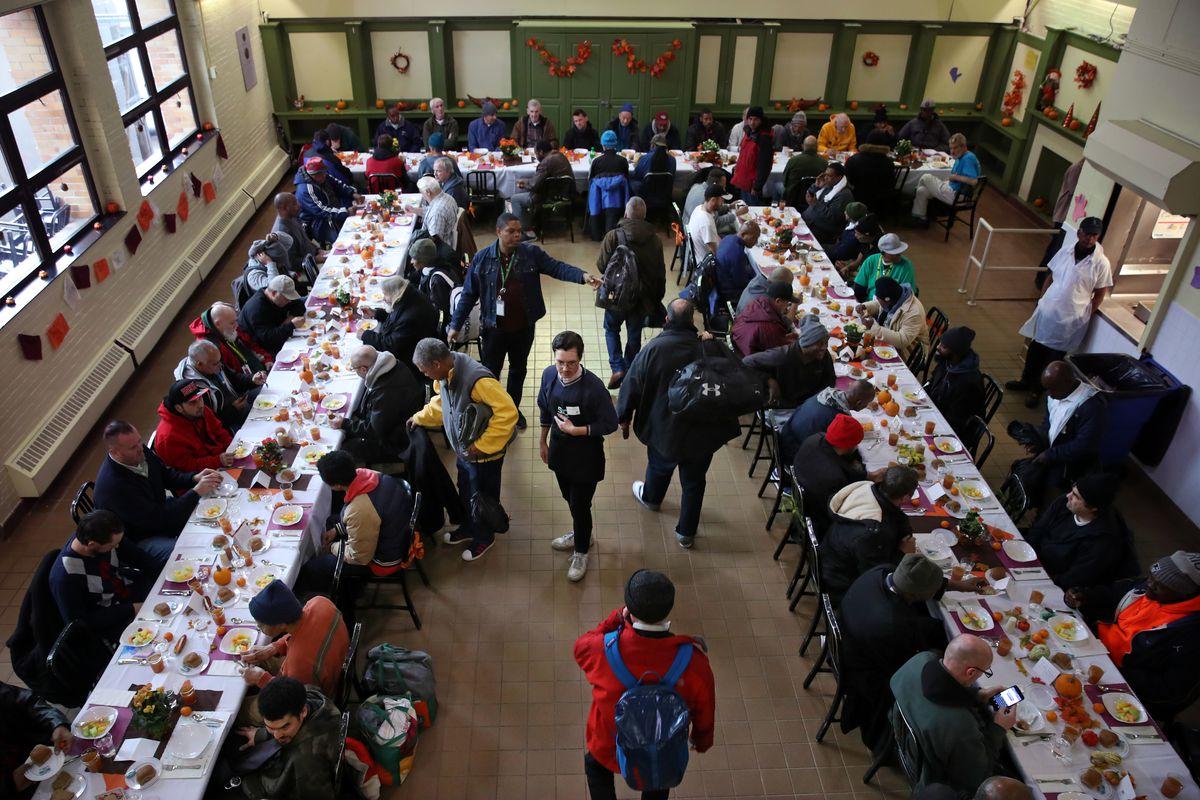 Thanksgiving At Pine Street Inn