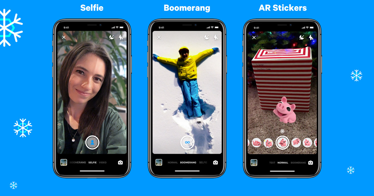 Facebook Introduces Boomerang Support and Selfie Mode for Messenger