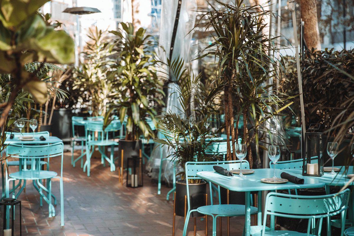 Interior patio space at La Bande