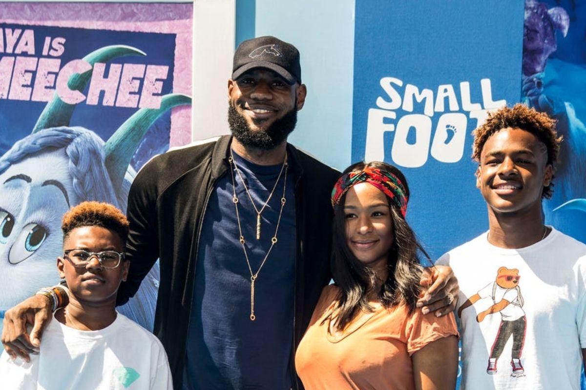The James Family: Lebron, Savannah, Bryce and Bronny