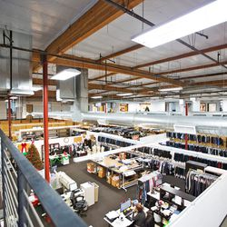 Bird's-eye view of the Hudson Jeans facility.