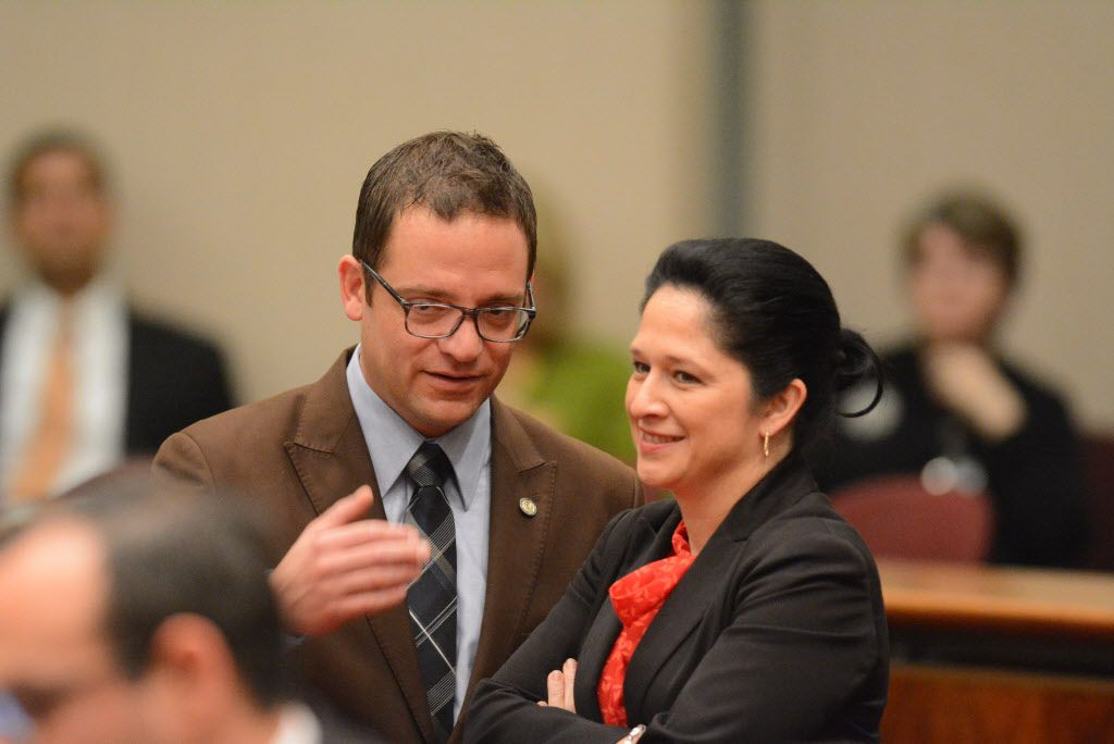 Ald. Proco Joe Moreno and City Clerk Susana Mendoza talk during a Chicago City Council meeting last year. File Photo. Brian Jackson/ For the Chicago Sun-Times
