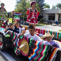 The Days of '47 Union Pacific Railroad Youth Parade held Saturday, July 18, 2015, in Salt Lake City.