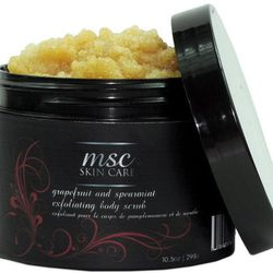 MSC Skincare Grapefruit and Spearmint Exfoliating Sugar Scrub, $33, mscskincare.com. Grapefruit and shea butter come together in this sugar body scrub.