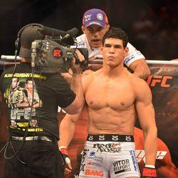 Cezar Ferreira before his fight against Thiago Santos during UFC 163.