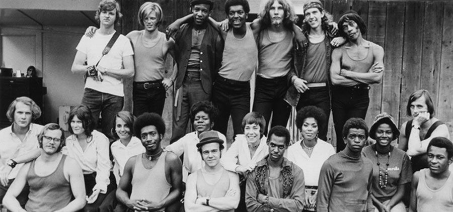 The original Free Street Theater ensemble, photographed in 1969. | Courtesy Free Street Archive