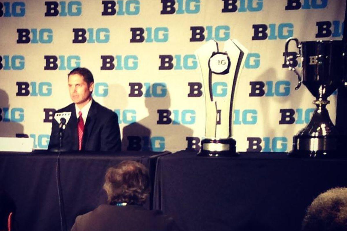 New OSU hockey coach Steve Rohlik at B1G Media Day.
