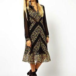 "Midi Dress with Diagonal Patchwork Print, $109.69 <a href=""http://us.asos.com/ASOS/ASOS-Midi-Dress-With-Diagonal-Patchwork-Print/Prod/pgeproduct.aspx?iid=2972370&cid=15801&sh=0&pge=0&pgesize=36&sort=-1&clr=Multi"">ASOS</a>"