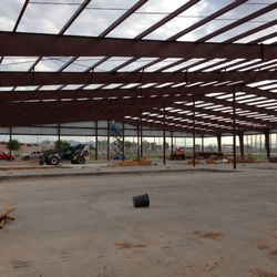 Construction of batting cage building