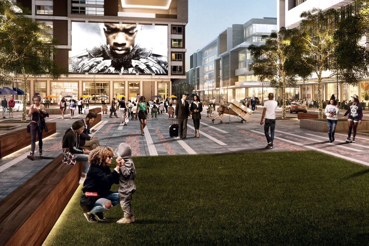 a rendering of the proposed redevelopment