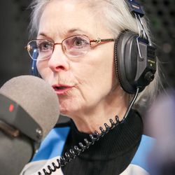 Democrat Dr. Kathie Allen answers a question during an on-air debate between 3rd Congressional District candidates hosted by KSL Newsradio in Salt Lake City on Tuesday, Oct. 10, 2017. Allen is vying to fill the remaining year of former GOP Rep. Jason Chaffetz's term. Chaffetz, now a Fox News contributor, resigned June 30.