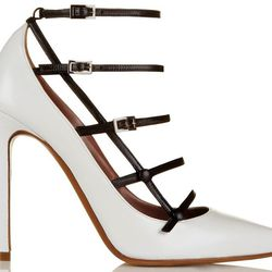 """<i>Tabitha Simmons, <a href=""""https://editorialist.com/shoes/product/josefina-pump-in-white"""">$1,095</a></i><br> """"Taking a cue from the sportif trends we saw walk the runways this spring/summer, the classic white sandal is reimagined through a modern filte"""