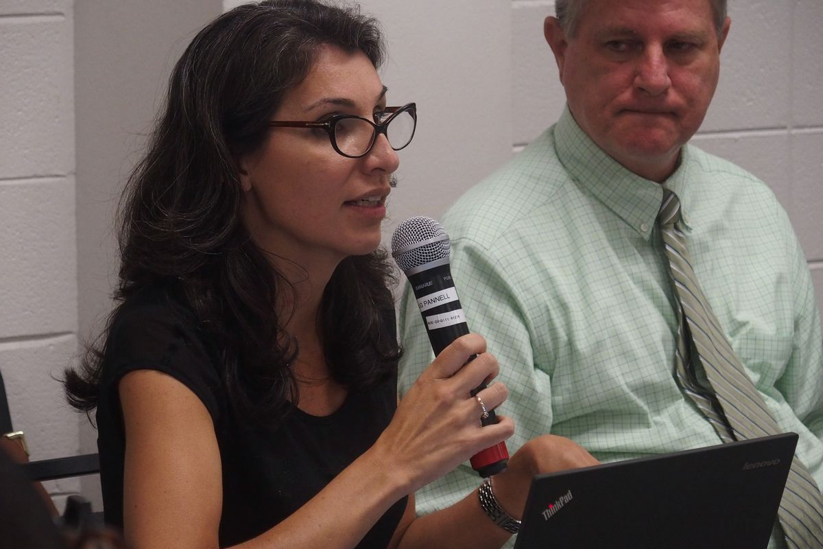 Heidi Ramirez, the then chief academic officer for Shelby County Schools, speaks at a charter advisory committee meeting Oct. 26.