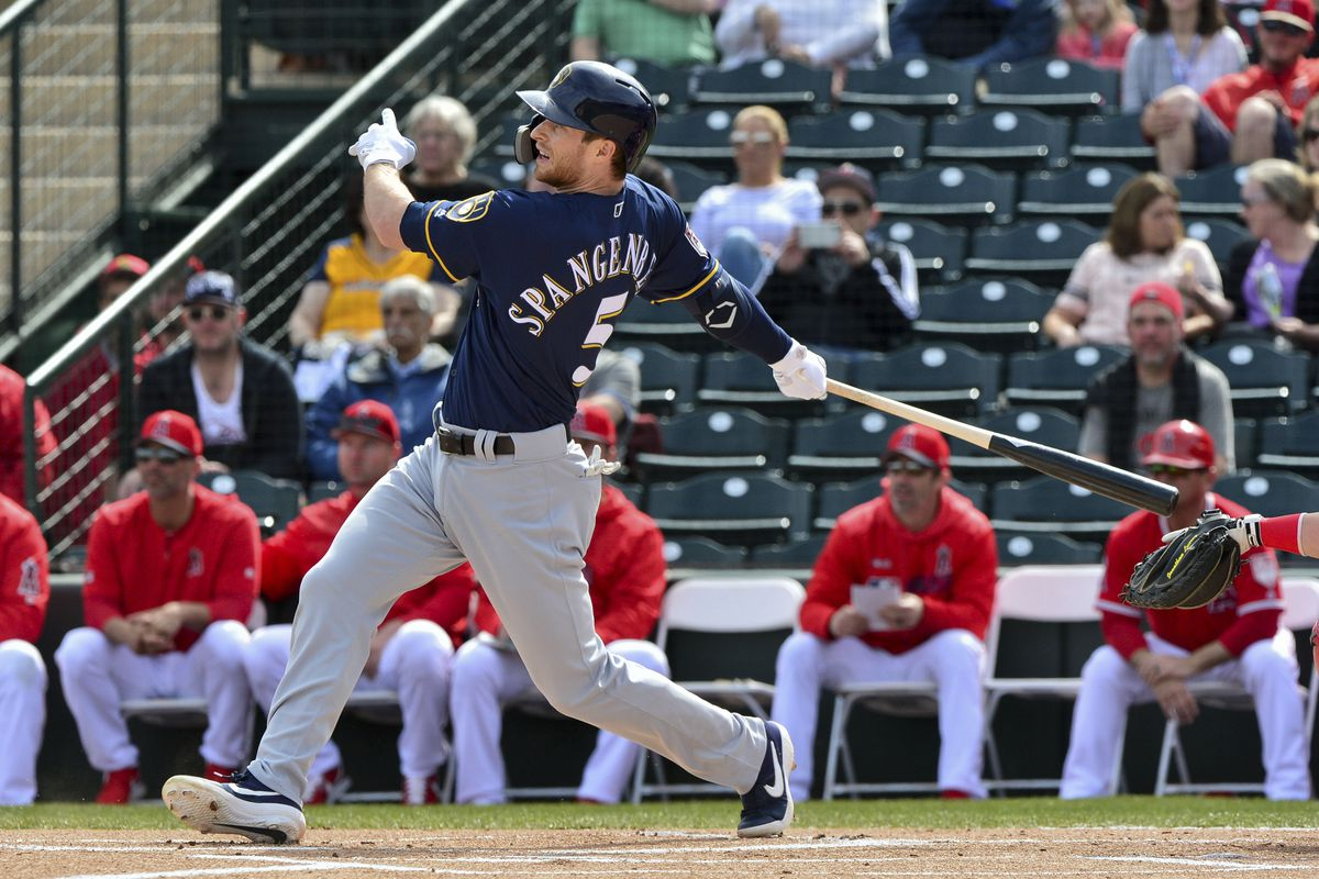 MLB: Spring Training-Milwaukee Brewers at Los Angeles Angels