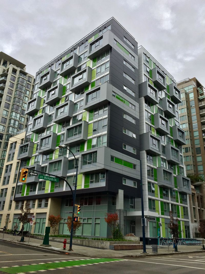 New social housing in Vancouver's Yaletown.