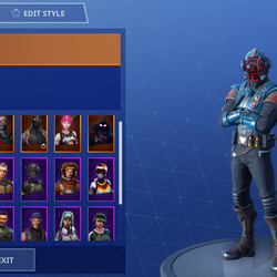 The Visitor in the skin select menu