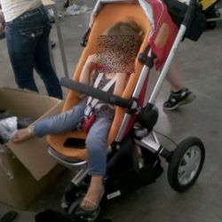 There is a special circle of Hell reserved for anyone who brings a child in a big stroller to a sample sale.
