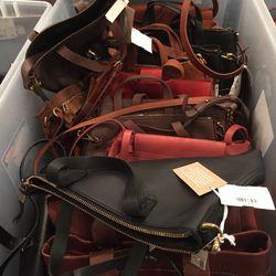 Medium leather bags, $90