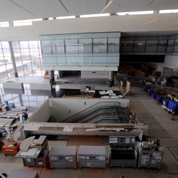 Construction continues at the new Salt Lake International Airport in Salt Lake City on Friday, May 22, 2020.