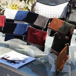 Colorblocked carryalls by Mofe. Image via LA Fashion Council.