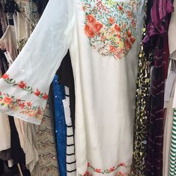 Embroidered sample dress, $99