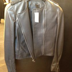 <b>A.L.C.</b> leather Jacket, $479 (originally $1,195)