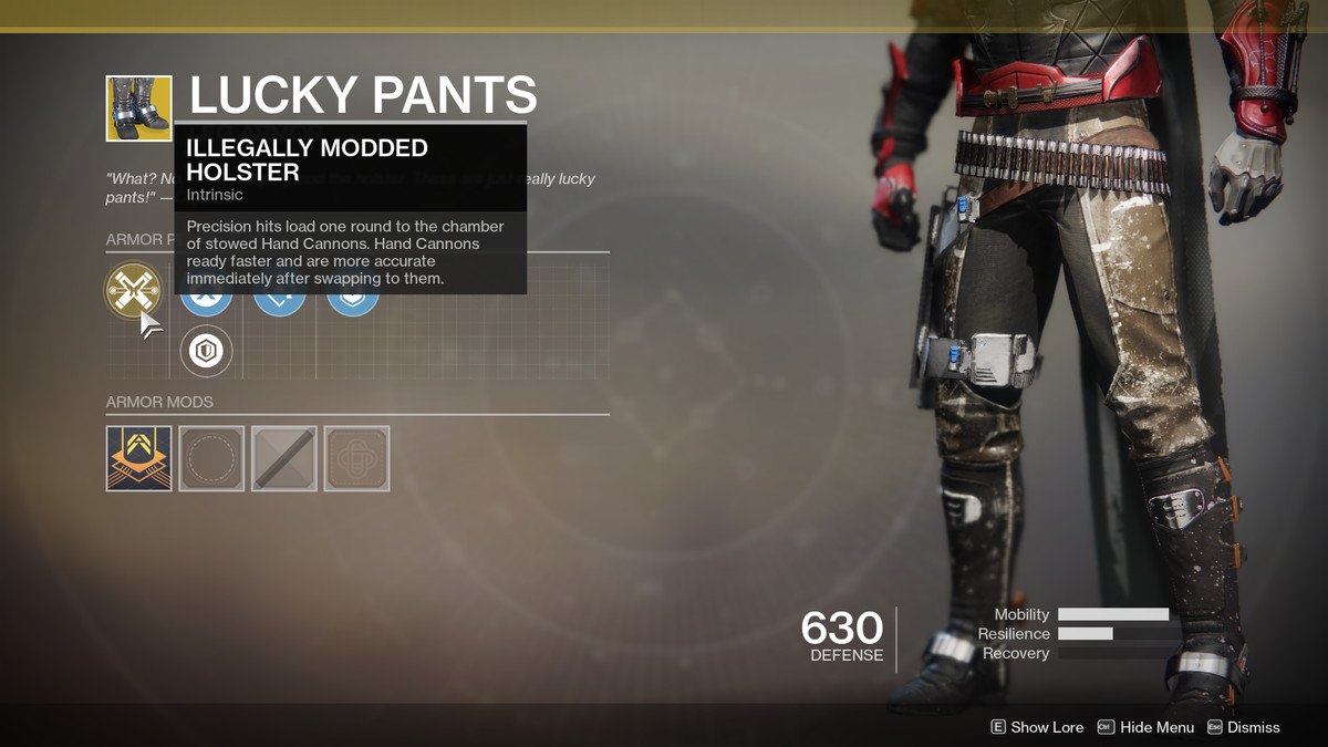 Lucky Pants Exotic Destiny 2