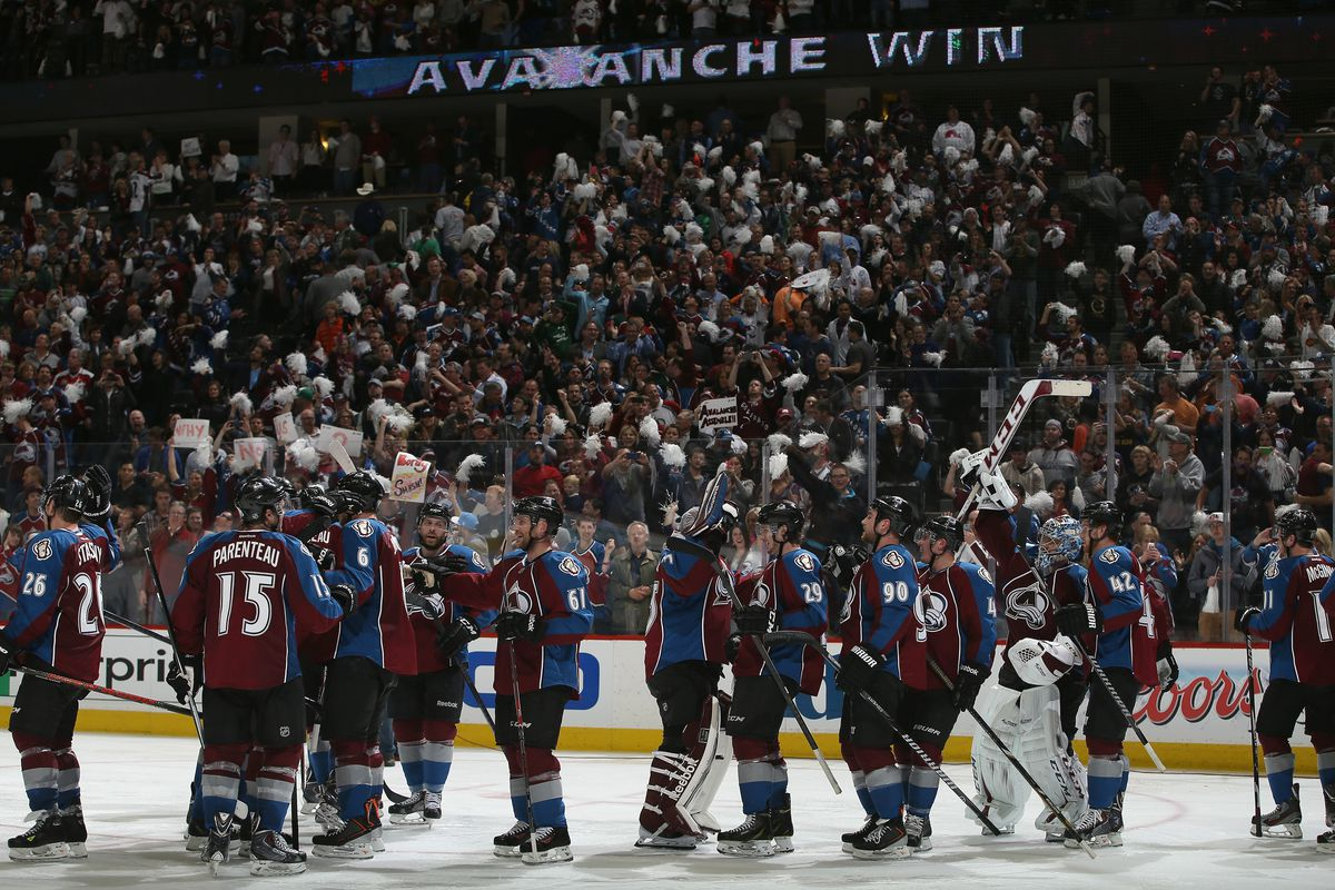 The Avalanche celebrate their overtime win Thursday night. What does Game 2 have in store?