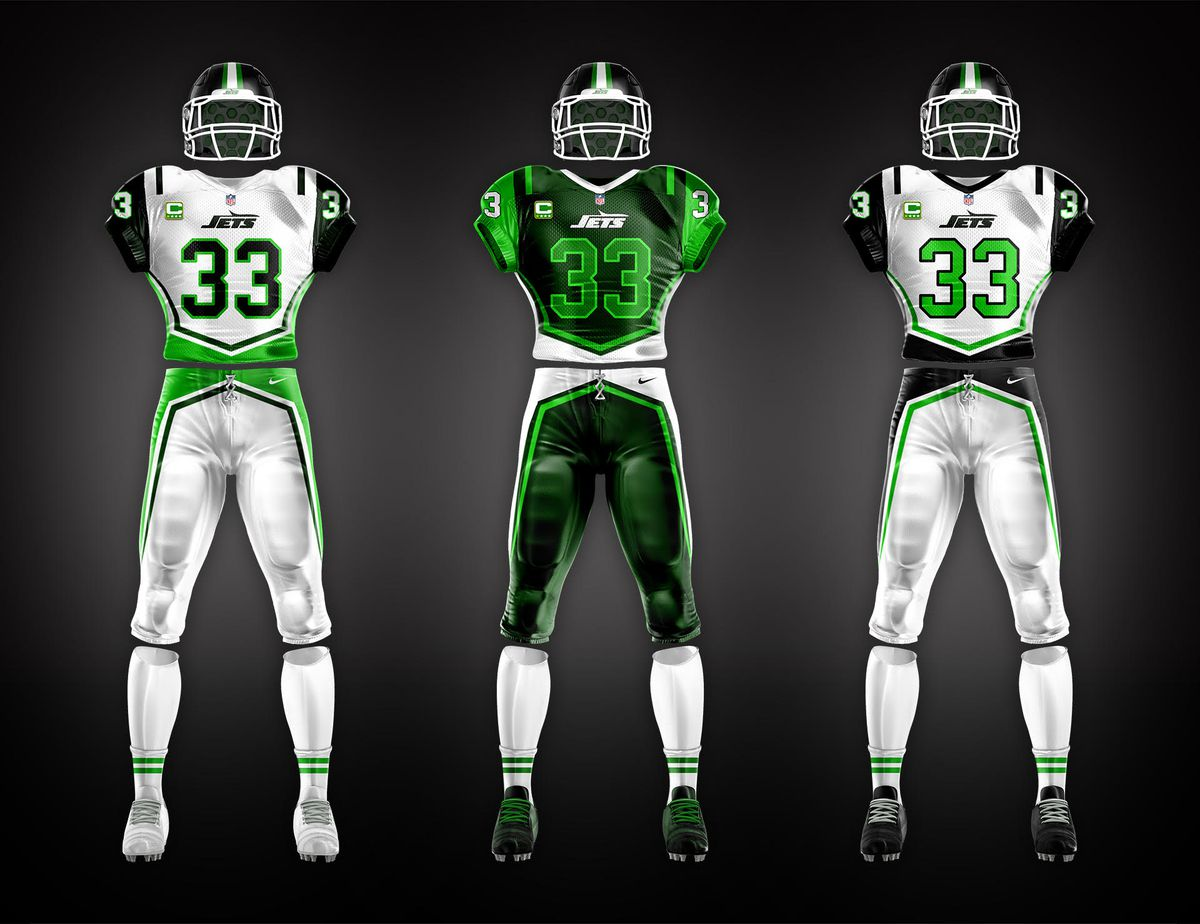 separation shoes 50dc4 230f7 New Jets uniforms designed by fans of the team - Gang Green ...