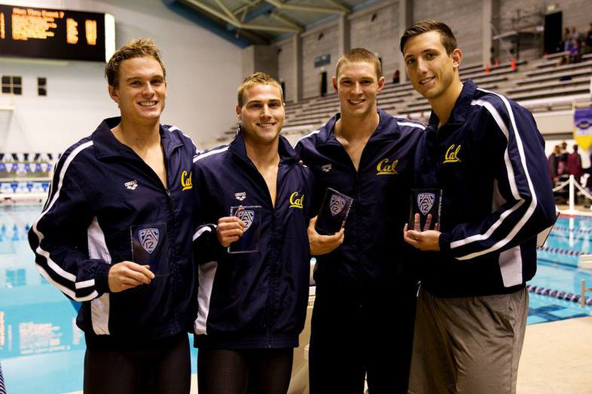 The Golden Bears are not content with just winning the Pac-12. This quartet will try to win the NCAA in 200 Free relay tonight.