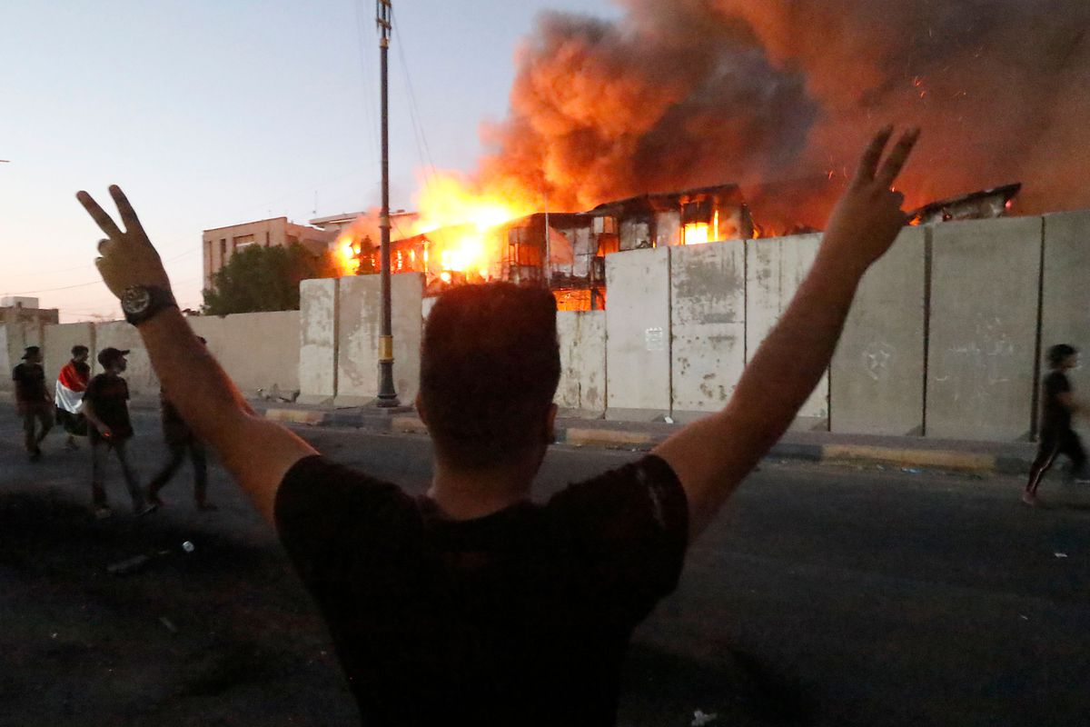Basra, Iraq, protests: protesters have torched nearly every