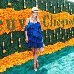 Nicky Hilton knows that ruffles are in.