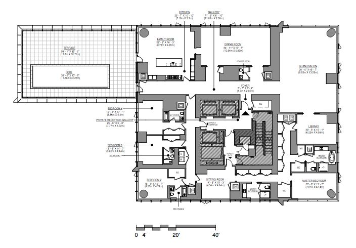 Floorplan Of The Unit Set To Ask 95 Million Via Real Deal